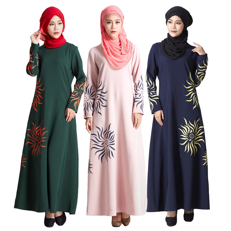 new malaysia muslim dress turkey islamic sun print