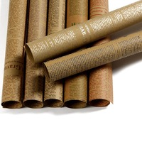 Kraft Paper Gift Packaging Flower Wrapping Paper Florist Bouquet Wrap Newspaper Paper Material Thanksgiving 42 PCS
