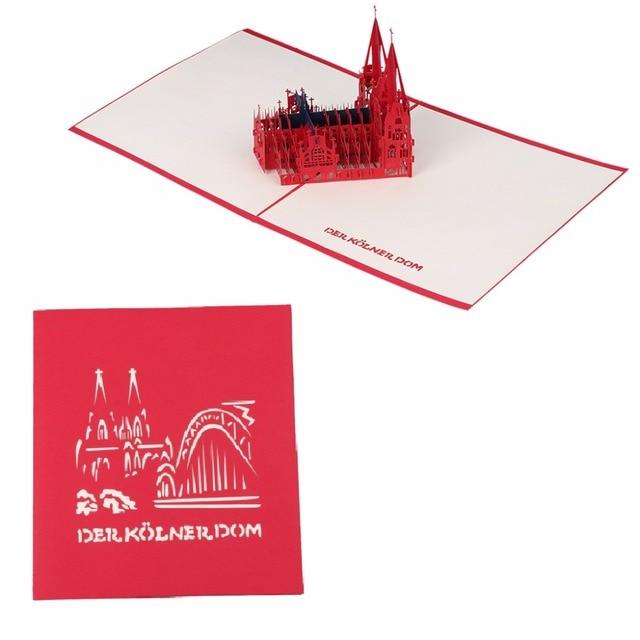 3d Pop Up Kartu Ucapan Kertas Gereja Valentine Ulang Tahun Undangan