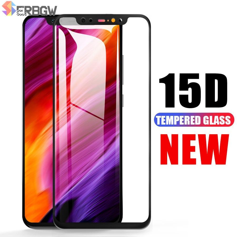 15D Full Cover Protective Glass For Xiaomi Mi 8 9 SE Mi8 Pro Mi9 A1 A2 Lite Pocophone F1 Max 3 2 Tempered Screen Protector Film