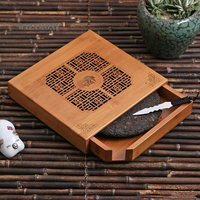 WIZAMONY Bamboo Tea Tray Storage Box Chest Chinese Kungfu Tea Board teaboard storage drawer small tea table Accessories Carving