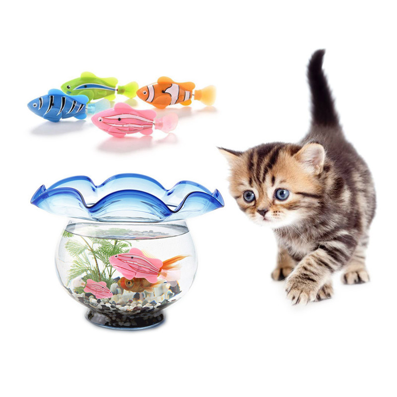 Simulation Fish Funny Cat Toy Activated Battery-Powered Fish Waterproof Swimming Fish Keep Your Cats Entertained#