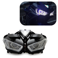 KEMiMOTO For YAMAHA YZF R25 R3 2013 2017 Motorcycle Headlight Angel Demon Eye HID Projector Headlight R25 R3 HID Angel Eye