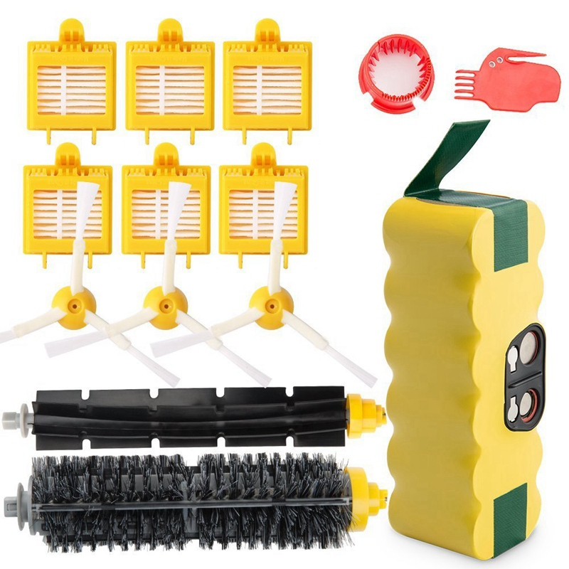 3500Mah Ni-Mh Replacement Roomba Battery + Replacement Accessory Part Kit Fo- A Set Of 14