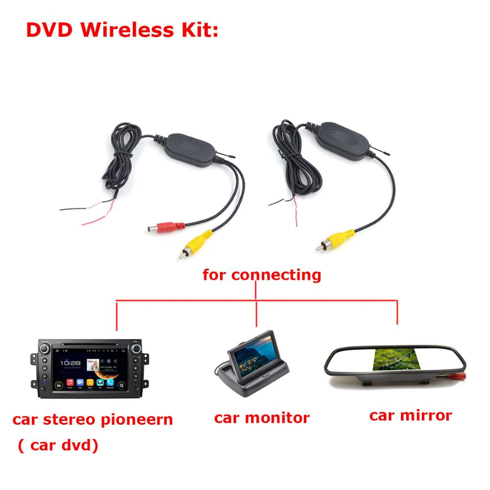 HD Беспроводная Автомобильная камера для hyundai Verna Solaris Sedan/KIA FORTE водонепроницаемая - Название цвета: wireless cam for dvd