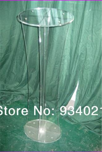 Free Shipping Hot Sell Clear 12mm Thickness Round Top Acrylic Lectern Stand Workshop Series