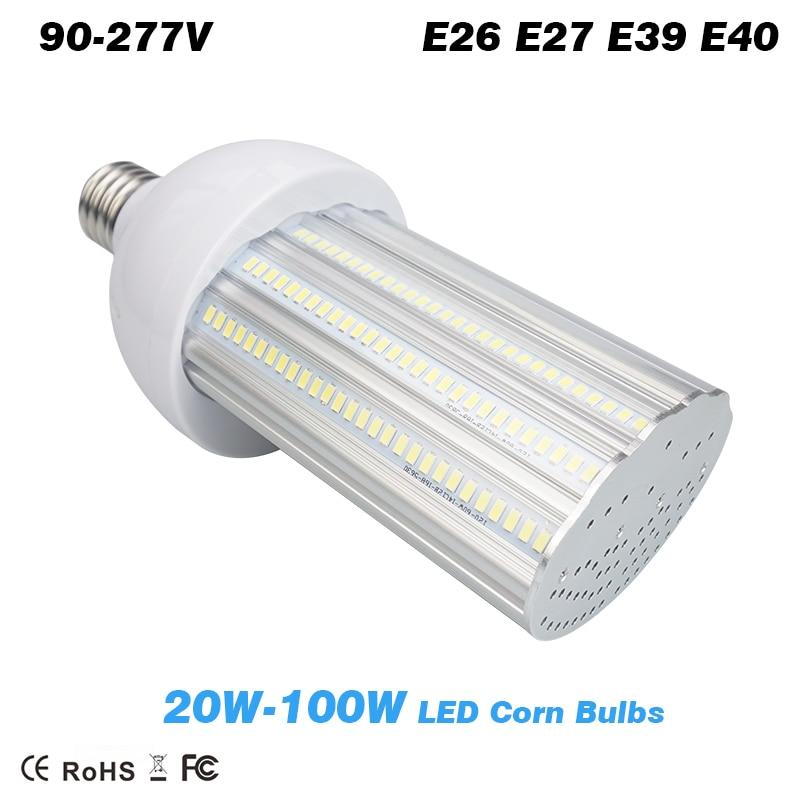 20w 30w 40w 60W 80W 100W LED street lamp led corn Bulb light parking lot lighting E26 E27 E39 E40 lamp Bases street lamp 60w e40 dc24v 12v taiwan led chips epistar 110 120lm w led light bulb e40