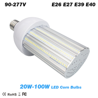 20w 30w 40w 60W 80W 100W LED street lamp led corn Bulb light parking lot lighting E26 E27 E39 E40 lamp Bases