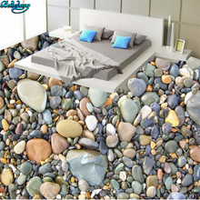 beibehang Large custom high-definition pebble small stone 3D floor living room bedroom bathroom decoration painting