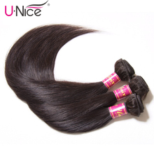 UNICE HAIR Indian Straight Hair 3 Bundles Natural Color 100%