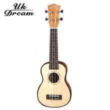 UK DreamUS-54A Ukulele Soprano Concert Ukulele 21 Rosewood uku Ukelele with Aquila String mini Hawaii guitar Musical Instruments