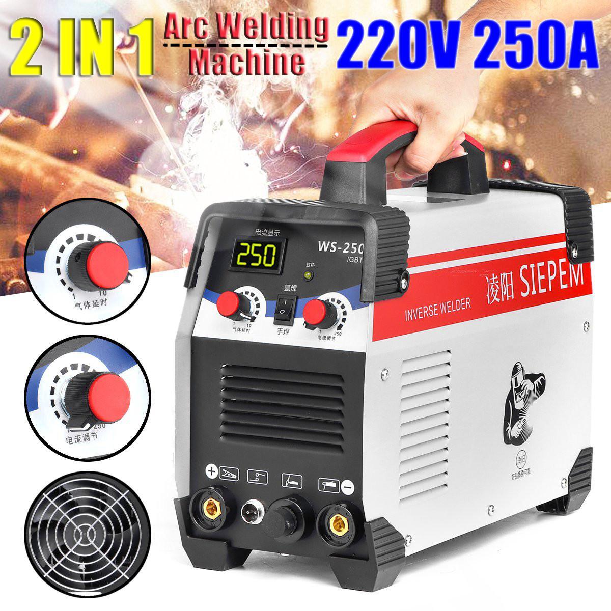 Equipo de soldadura eléctrica 2 en 1 ARC/TIG IGBT Inverter Arc 220V 250A MMA