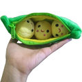 Free shipping 1 pcs / 20CM Kids Baby Plush Toys For Children Cute Pea Stuffed Plant Doll Girlfriend Kawaii Gift High Quality Toy