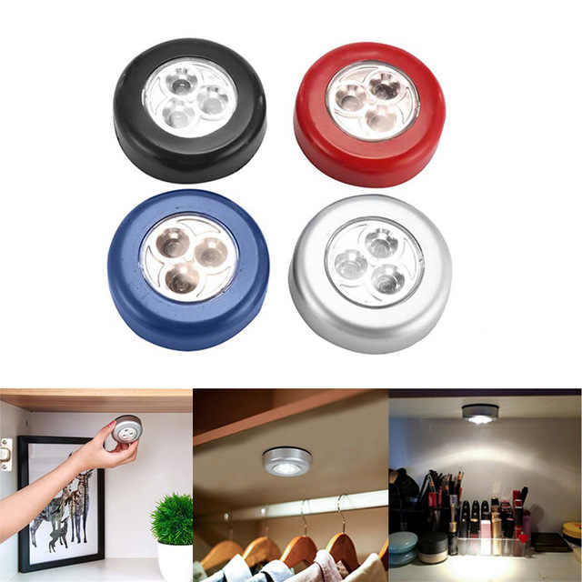 Dozzlor LED Light Night Touch Stick-On Cabinet Lights Outdoor Closet Stair Hanging Night Wall Lamps Bedroom Decorate