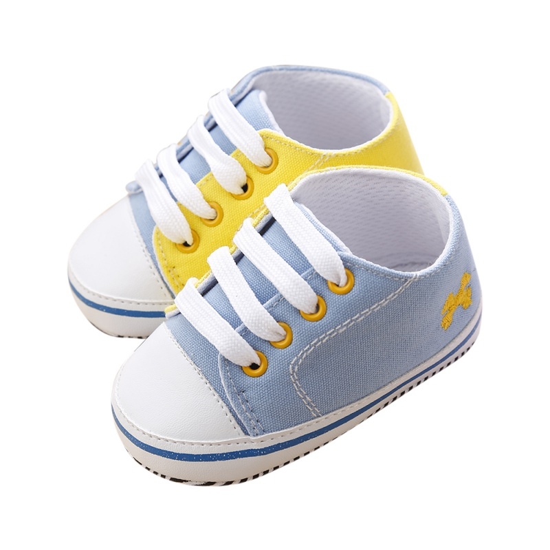 New Baby Toddler Infant Boys Casual Splice Soft Sole Lace Up Canvas Prewalker Crib Shoes 0-18 Month P1