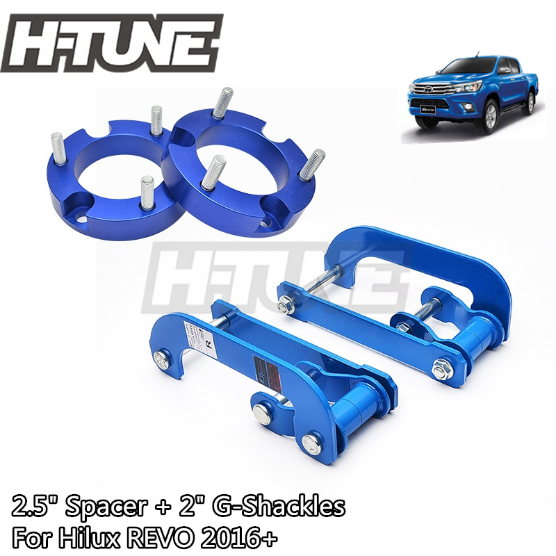 H TUNE 4x4 Accesorios 32mm Front Spacer and Extended 2 Rear Leaf Spring G Shackles Lift