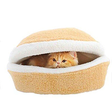Check Price Very soft comfortable Pet House Nest Cushion Bed Cat Sleeping Hamburg Warm Mat pet mattresses upholstered