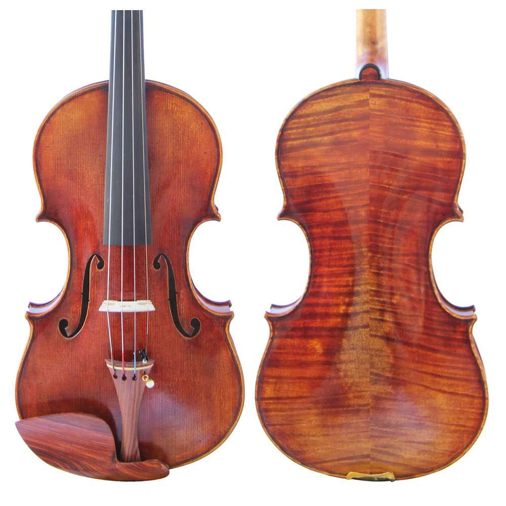 Free Shipping Copy Guiseppe Guarneri del Gesu II 1743 Violin FPVN04 Oil Varnish 100% Handmade Case Carbon Fiber Bow Master level free shipping copy stradivarius 1716 100% handmade oil varnish violin carbon fiber bow foam case fpvn04 8