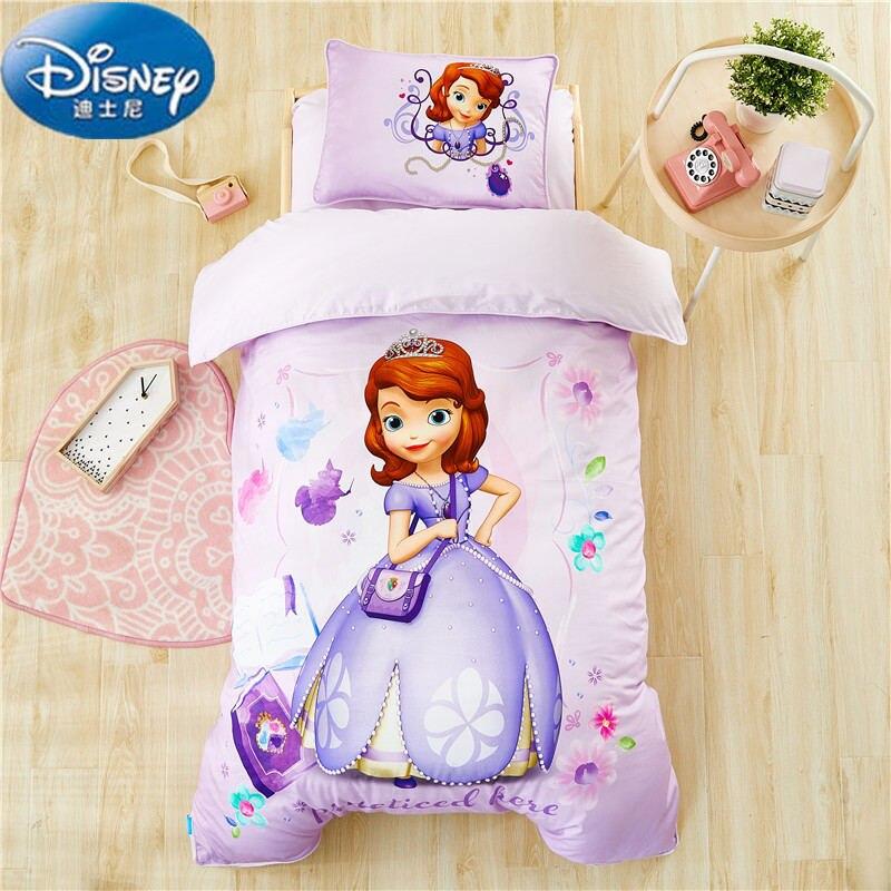 Disney Authentic Comforter Bedding Set For Baby Crib bed linen 6pcs/set duvet cover bed sheet pillow case for baby.