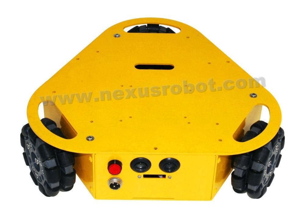 3WD Triangular 100mm omni wheel mobile robotics car - Escuela y materiales educativos