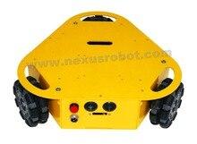 3WD треугольная 100 мм Omni колеса автомобиля мобильной робототехники 10003