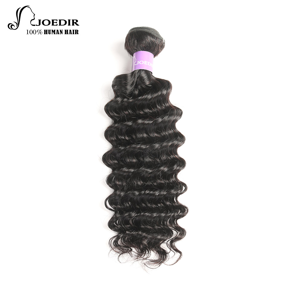 Joedir Hair Brazilian Deep Wave 1 Bundles 100% Remy Human Hair Extention Weave Natural Color Free Shipping