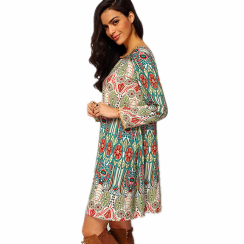 2017 אופנה נשים Boho פורמליות חתונת מקסי שושבינה חוף המפלגה כדור נשף שמלת שמלה ארוך שרוול בתוספת גודל vestidos