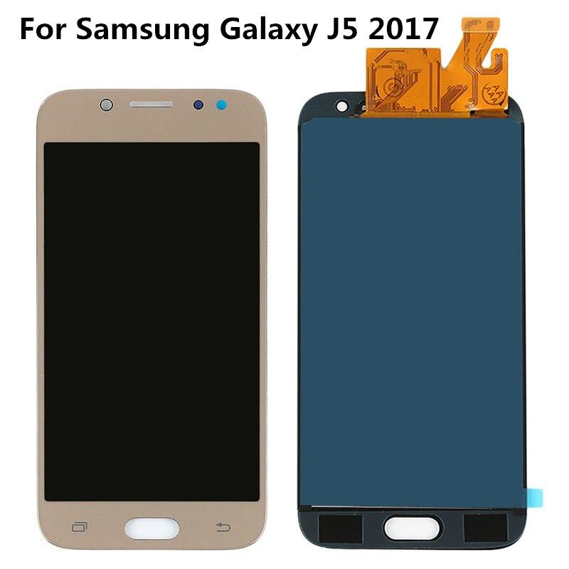 TFT lcd pour SAMSUNG Galaxy J5 2017 J530 J530F LCD écran tactile numériseur assemblée pièces de rechange + autocollant