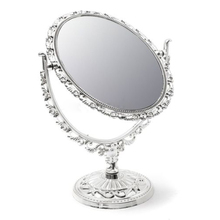 JEYL Hot SILVER VANITY MAKE UP COSMETIC TABLE BATHROOM MIRROR ON FOOT STAND