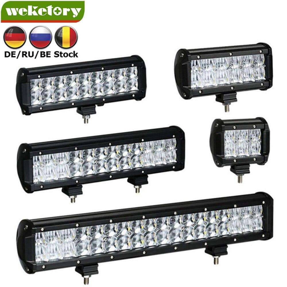 Weketory 4 6,5 9,3 12 17 zoll 30 watt 60 watt 90 watt 120 watt 180 watt 5D LED Arbeit licht Bar für Traktor Boot OffRoad 4WD 4x4 Lkw SUV ATV 12 v 24 v