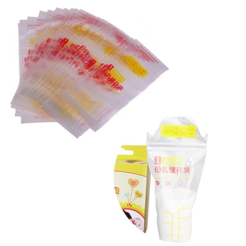25pcs/lot 200ML Baby Breast Milk Storage Bags Disposable Medical Grade Baby Food Storage ...