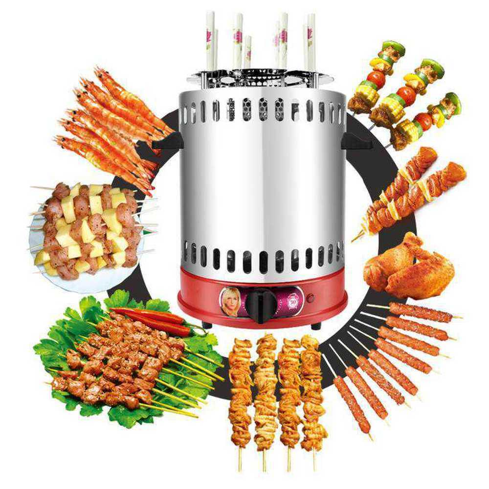 2019 Grelha Vertical Electric Bbq Kebab Grill Machine Automatic Rotating Barbecue Smokeless Oven Rotary Household Lamb
