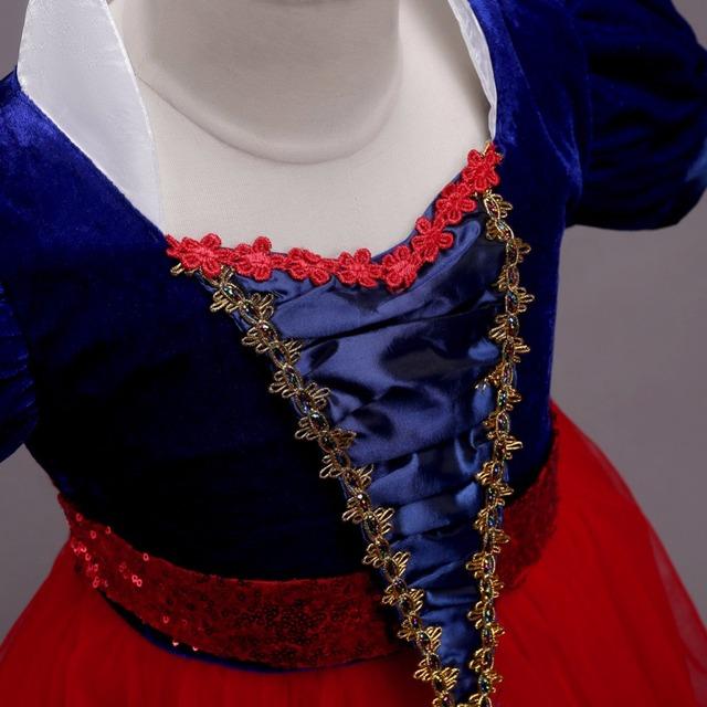Neige Blanc Robe pour Filles Princesse Robe Carnaval Costume pour Enfants Bébé Cadeaux Partie Cosplay Robe Fantaisie Adolescent Vêtements