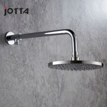 Brushed stainless steel booster shower head