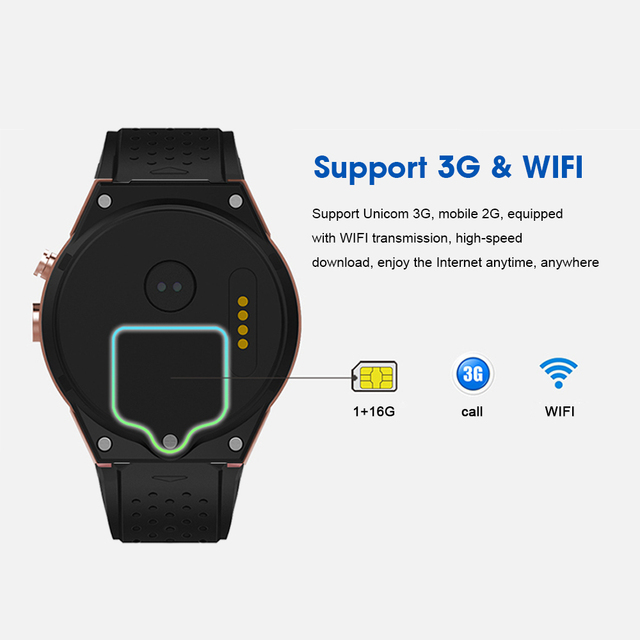 Kaimorui Smart Watch KW88 Pro Android 7.0 OS Smartwatch 1GROA + 16GRAM Support SIM Card GPS Bluetooth Watch Smart Men for IOS