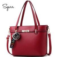 SGARR Women Bag Handbag Tote Shoulder Crossbody Autumn Winter Leather Big Brand Black Green Red Casual