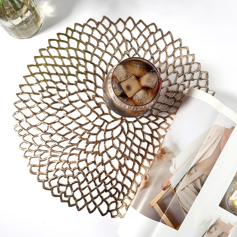 Round Baroque Cup Coffee Table Mats Coaster Placemat Insulation
