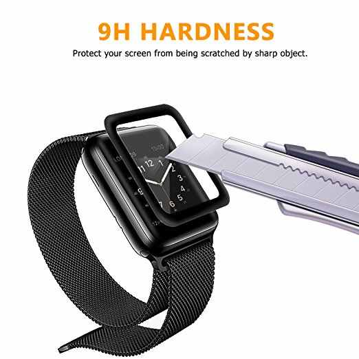 3D Curved Full Coverage Tempered Glass For Apple iwatch Watch Series 1/2/3 38mm 42mm Protective Film Cover i watch 38 42 mm band