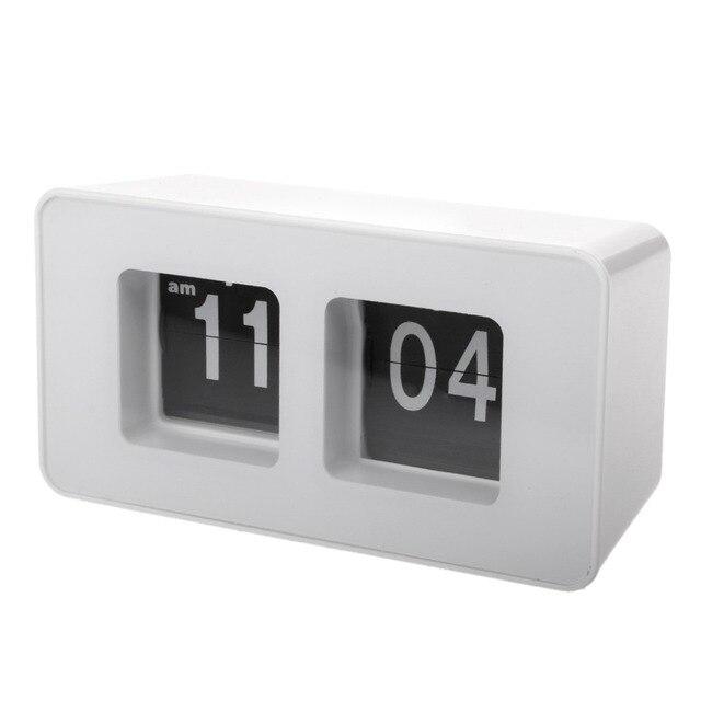 834f04574ad Relógio Digital de Retro Clássico Elegante Auto Flip Relógio de Secretária  Moderna de Parede Casa Decoração