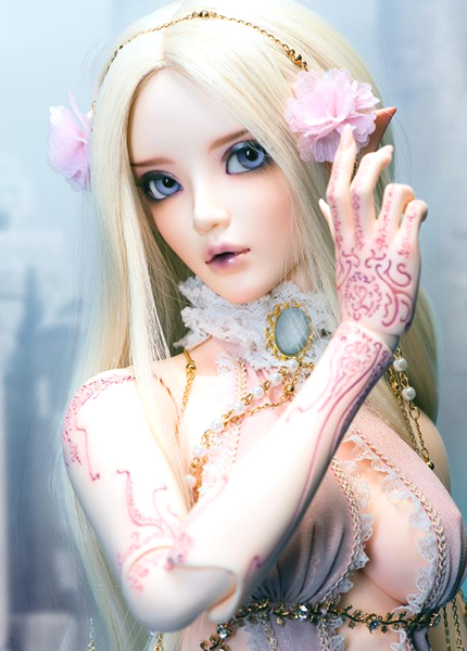 recast 1/3 scale BJD nude doll about 60cm BJD doll girl chloe.Resin Model Toys.not include clothes;shoes and wig,Type A A15A919