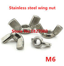 25 Pieces M6 DIN315 SUS304 Stainless Steel Wing Nuts/ Butterfly Nut Metric Thread M3 TO M12