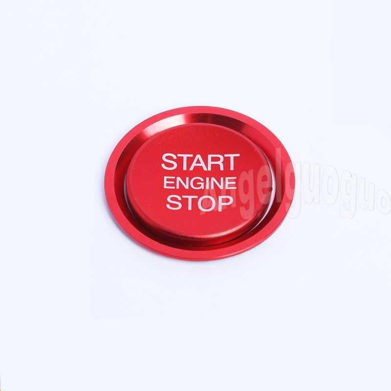 السيارات المحرك بدء زر التوقف غطاء نظام ملصقات تصفيف السيارة حافظة الخاتم لأودي A4 A5 A6 A7 Q5 Q7 دائرة اكسسوارات