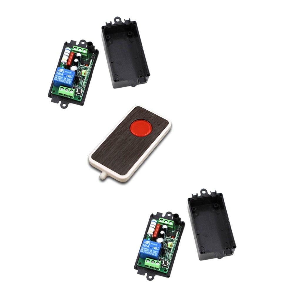 AC110V 220 V 1CH RF Sistema de Interruptor de Control Remoto Inalámbrico 1 Trans