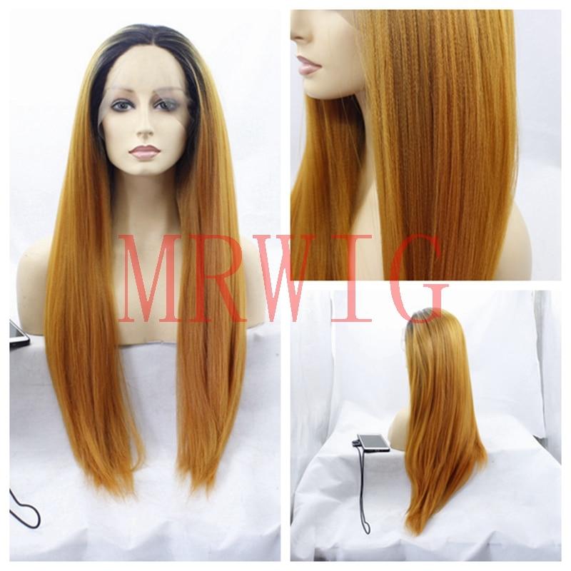 Mrwig средняя часть настоящие волосы длинные яки прямо перед lace парик короткие темные корни 26 дюймов 150% 330 г в африканском стиле американская ж... ...