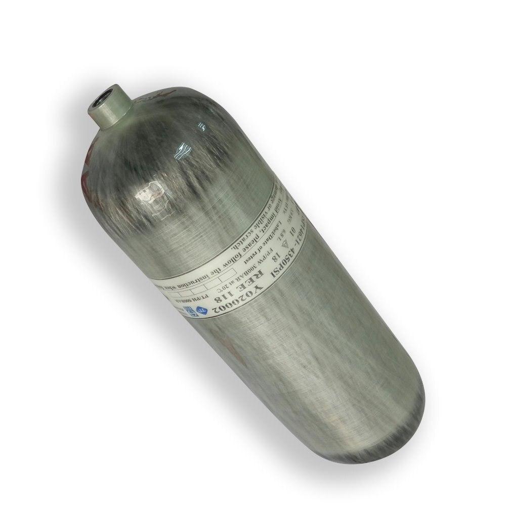 AC2680 Breathing Apparatus Hpa Tank Oxygen Cylinder DOT Mini Scuba Tank M18*1.5 Thread 4500psi Carbon Fiber Air Tank 30mpa