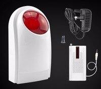 Kerui alarme sem fio ao ar livre à prova dwaterproof água sirene de flash som strobe flash sirene de alarme para wifi gsm pstn sistema de alarme de segurança em casa|alarm siren|siren whistle|alarm systems for vehicles -
