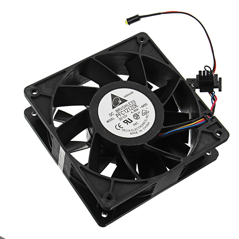 120mm 5500RPM Cooling Fan Replacement 8 Pin Connector For Antminer Bitmain S7 S9 Computer Cooler Cooling Fans For CPU Black 12cm