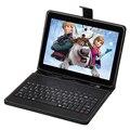 "FreeShip 10.1 BoDa Android 4.4 A33 Tablet PC Quad Core 8 GB Dual Camera Bluetooth WIFI 10 ""Tablet ou 10"" Teclado de couro Presente"