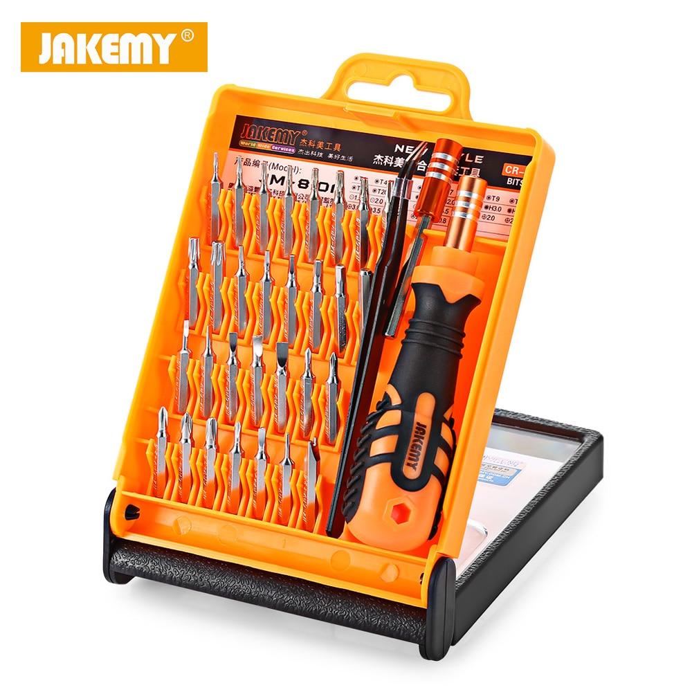 JAKEMY JM-8101 33 in 1 Multifunctional Precision Screwdriver Set For iPhone Laptop Mini Electronic Bits Repair Tools Kit Set