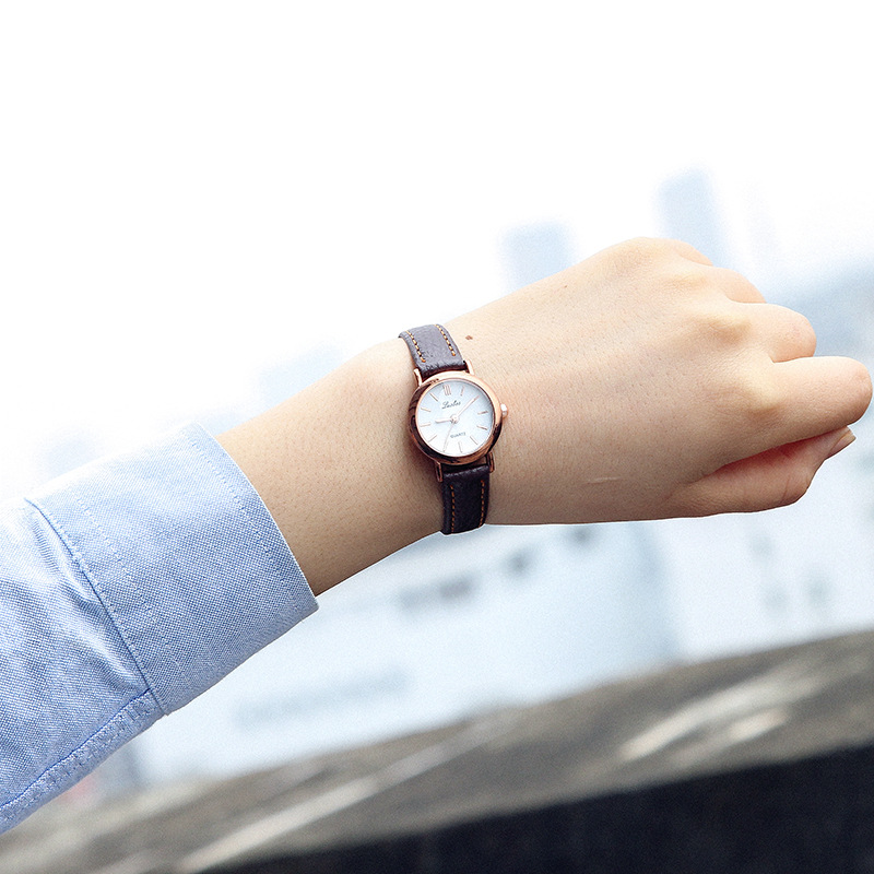 Luobos New Fashion Watch Women Leather Classic Black & White Small Dial Casual Quartz Watch Ladies Popular Japanese style Clock luobos hot sale square style women watch fashion casual leather quartz wristwatch small dial ladies analog watches relojes 2017
